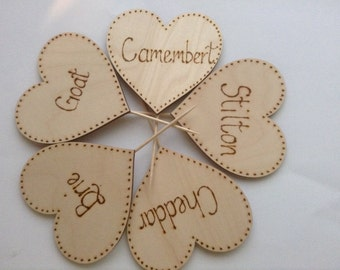 Cheese Markers, Set of 5, Fromage, Cheese labels, Hostess Gift