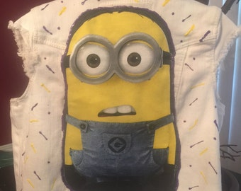 Minion inspired denim vest