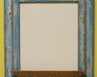 whiteboard in antique wood frame capitol st blue