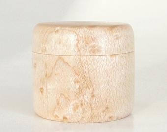Trinket Box Handcrafted in Birdseye Maple