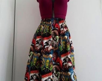 Classic Monsters skirt- Plus size