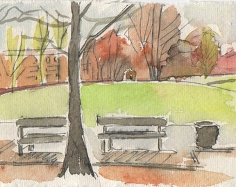 Butterfield Green, painting
