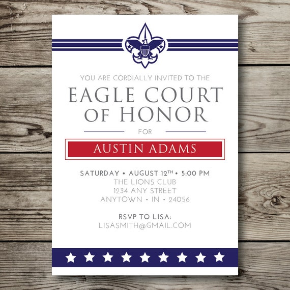 Printable eagle court of honor boy scouts by vallarinacreative for Eagle scout court of honor program template