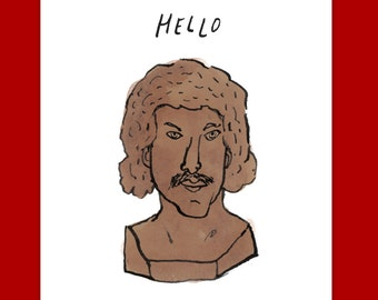 Lionel Richie HELLO greeting card