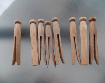 Vintage Wood Clothes Pins