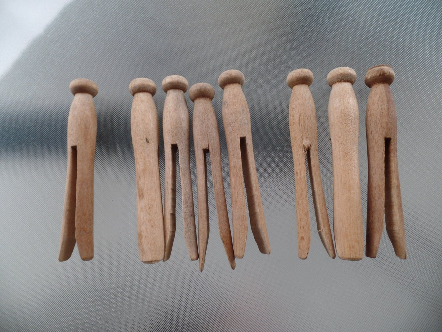 vintage wood clothes pins by goodtimefinds on etsy
