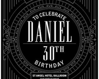 Victorian Style Birthday Invitation