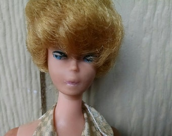 Vintage Original 1960's Blonde Bubble Cut Hair Barbie Doll Made in Japan 1966 With Swimsuit REDUCED