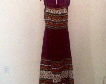 Vintage Ethnic Boho Embroidered Dress