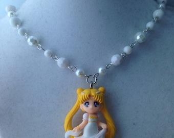 Princess Serenity // Sailor Moon // Beaded Necklace