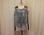 Boho And Goth Women's Plus Size Clothing Gothic top womens tunic Plus