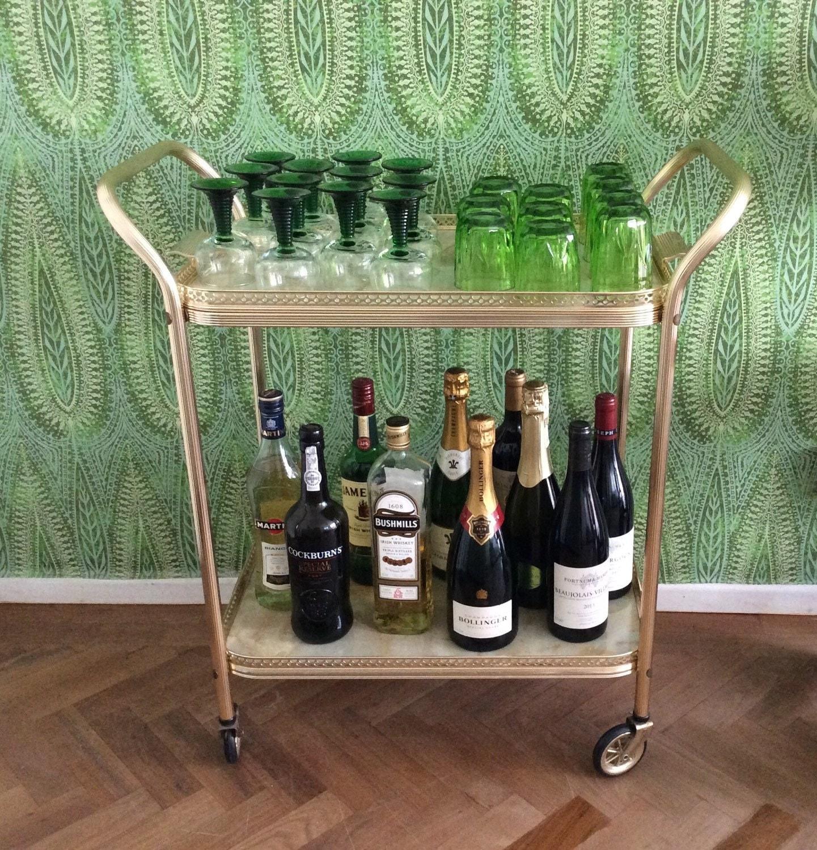 bar chariot roulant chariot de boissons mi si cle chariot de. Black Bedroom Furniture Sets. Home Design Ideas