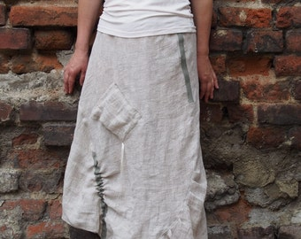Maxi Long Skirt Cotton Linen Skirt Women Summer Skirt & Nara POL003