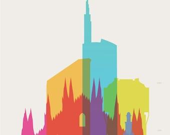 Shapes of Milan art print