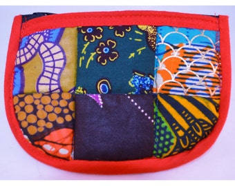 Red African Pattern Pouch