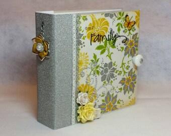 8x8 Mini Album, Scrapbook, Photo Album, Memory Album, Chipboard Album-Custom/Made to Order