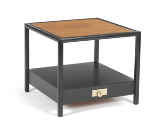 New World Michael Taylor End Table for Baker Furniture -- Teak -- Mid-Century Modern -- FREE S&H to Lower 48 USA