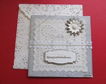 Wedding Card Congratulations Card Wedding Congratulations Card Vintage Look