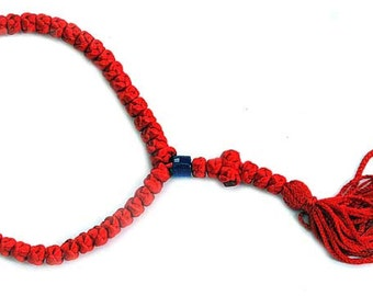 high quality christian Hand made red prayer rope jerusalem holyland