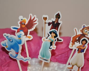 Jasmine Aladdin Cupcake Toppers Set of 12