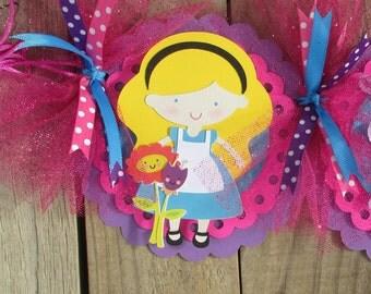 Alice In Wonderland Banner - Mad Hatter Party Banner,  Mad Hatter Tea Party Banner, Mad Hatter Birthday Banner, Birthday Banner, Mad Hatter
