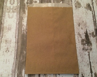 25 Glassine Lined Kraft Brown Paper Bags, 4 3/4 X 6 3/4, 1/4 pound.  Favor Bags, Party, Wedding, Shower, Candy, Baked Goods, Packaging