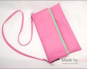 small handbag, shoulder bag, clutch, pink bag, pink clutch,