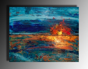 Abstract Landscape Art painting on canvas multicoloured fine art  rich textured wall art art decor commission acrylic painting