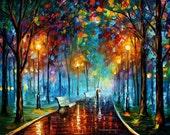 painting - Misty Mood 2 —  oil painting, wall art, wall decor, home decor, art, decor, bedroom decor, room decor, living room decor, canvas