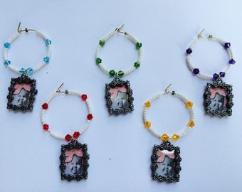 Picture Frame Wine Charms