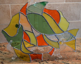 Stained glass tropical fish