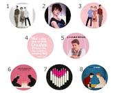 Sixteen Candles Buttons / Magnets - 16 Candles - John Hughes Movie, Samantha Baker, Jake Ryan, Molly Ringwald, 16 Candles Pins