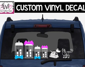 VINYL DECAL: DIY Doctor Who Inspired Tardis Family, Car Decals
