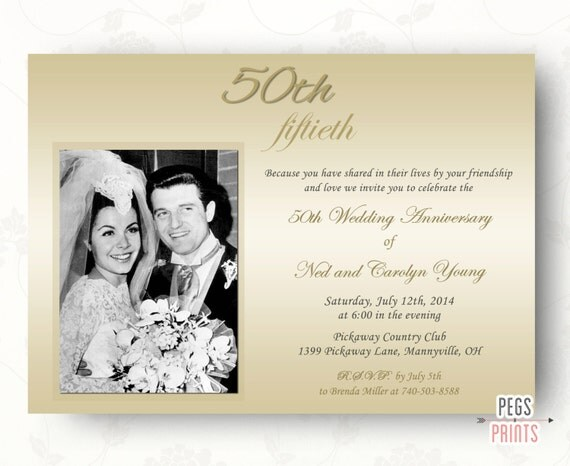 Fiftieth Wedding Anniversary Invitations: 50th Wedding Anniversary Invitations