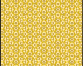 One Yard - 1 Yard of Oval Elements Golden - Art Gallery Fabrics