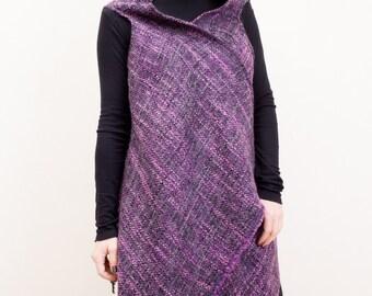 Maxi Vest/Purple Vest/loose Sleeveless Vest/Oversize Vest