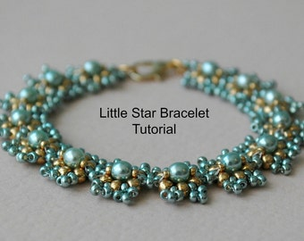 Tutorial: Little Star Bracelet - Bead Weaving Tutorial, Personal Or Commercial Use