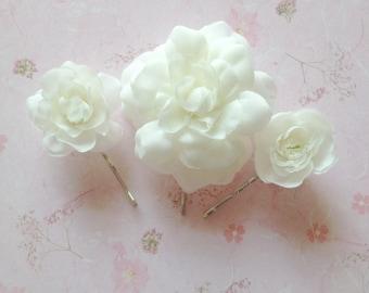 Gardenia Bobby Pin Set of 3