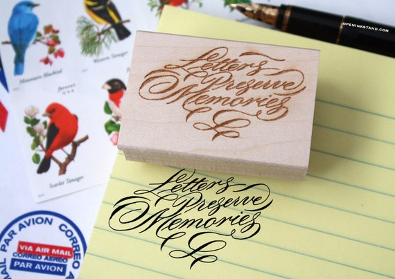 Items similar to letters preserve memories rubber stamp