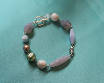 Czech Fire Glass Bracelet