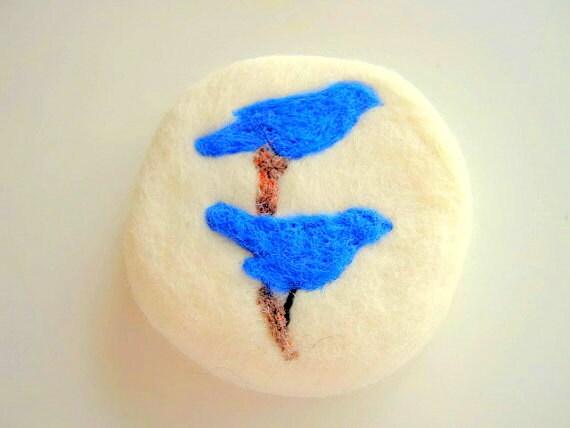 ... Felted Soap Blue Bird Soap Needle Felted Bluebird Round Needle Felt