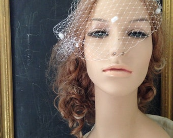 Penelope bridal birdcage veil  Made to Order