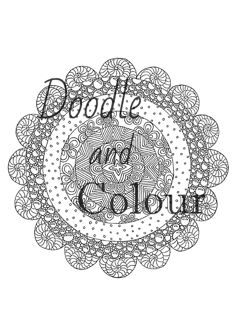 coloring pages adults circle - photo#32