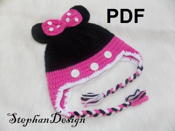 Minnie Mouse HatCrochet Baby Girl HatMinnie Mouse toddler