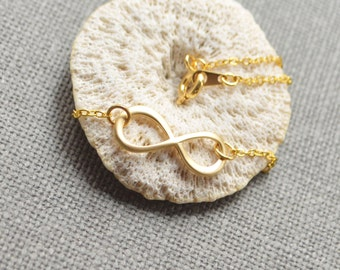 Gold infinity necklace A-118