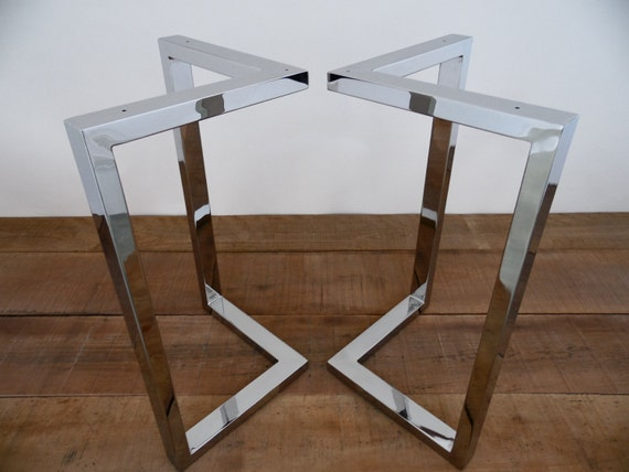 28 X 28 Bracket Table Legs Stainless Steel Height 26 By