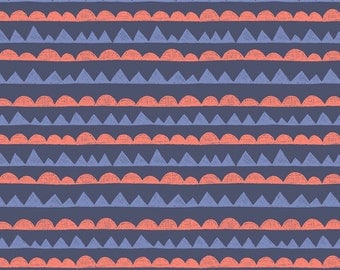 Lewis & Irene Patchwork Quilting Fabric - A004-2 Jurassic Coast Dinosaurs Teeth
