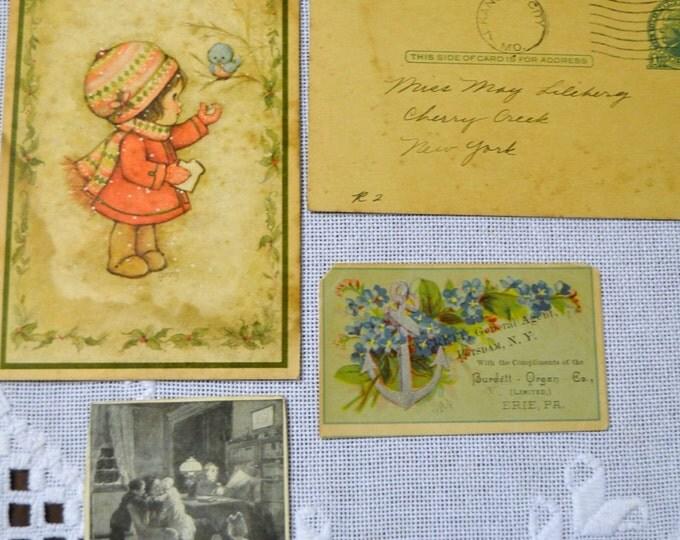 Vintage Paper Prints Various Souvenirs Scrapbooking Craft Supplies PanchosPorch