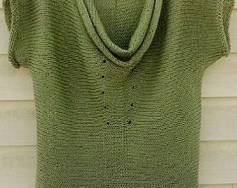 Knitted tunic-vest  for women       Вязаная туника  для женщины