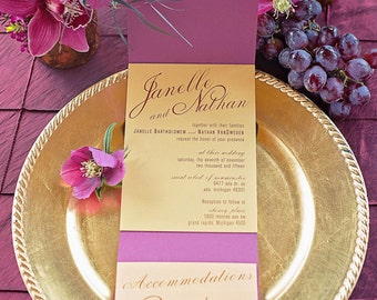 Wedding Invitation Rich Elegance